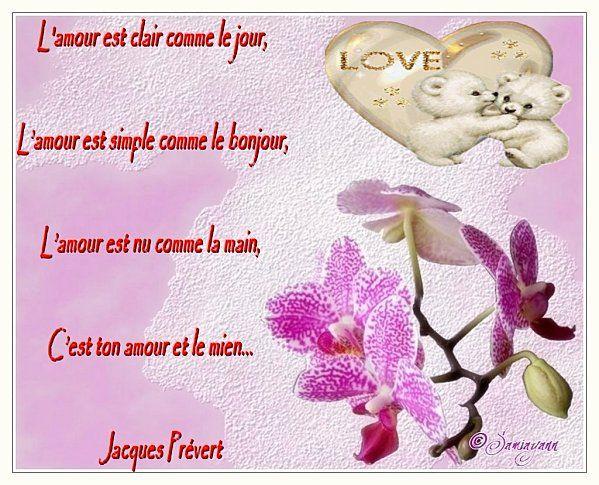 Poeme jacques prevert - Poeme d amour a imprimer ...